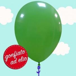 palloncino verde gonfiato ad elio