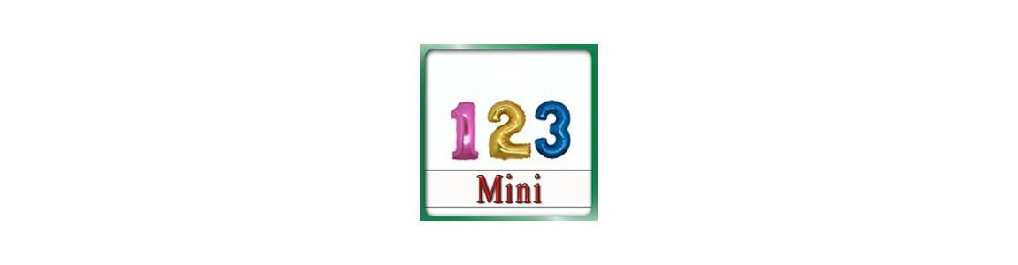 Palloncino Numero Mini Mylar 7 pollici | adatti alle composizioni