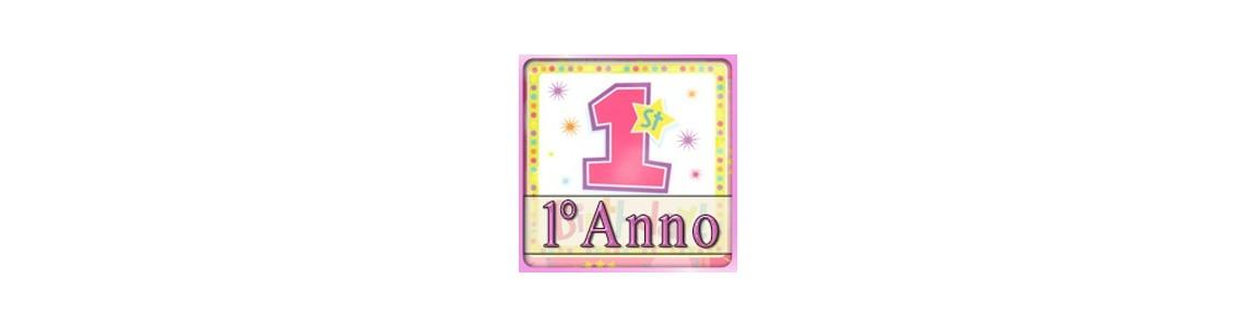 Palloncini Primo Compleanno Bimba | colori pastello su tommyparty.it